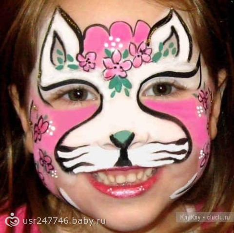 Рисунки на лице для детей.