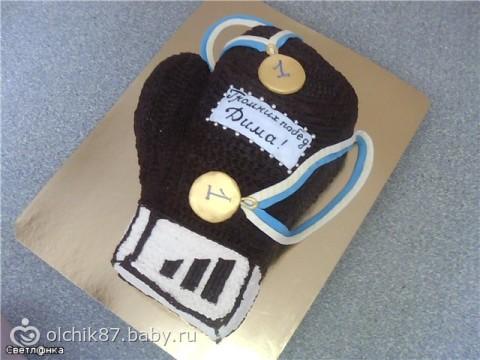 Торт в виде боксерской перчатки