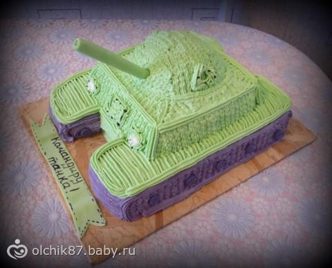 Торт танк своими руками из крема пошагово