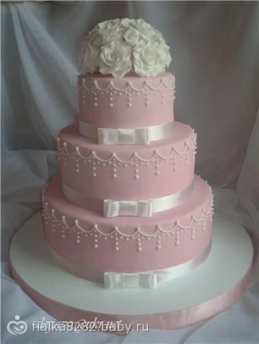 Мастичные свадебные торты фото