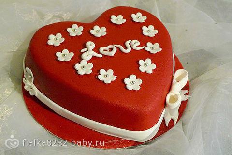 Торт любимому на день святого валентина с фото