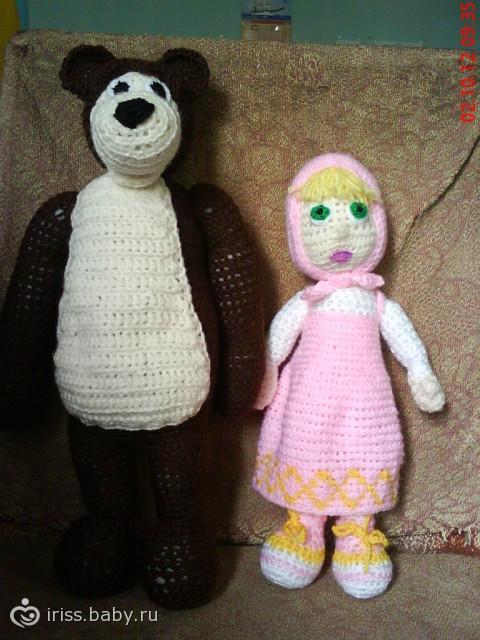Маша и медведь крючком схема и описание фото 528