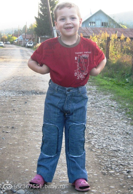 Детские джинсы из взрослых