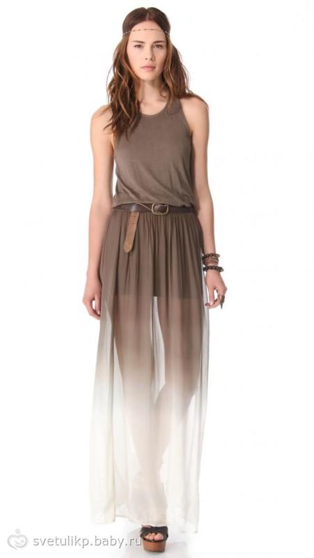 Платье сверху прозрачная юбка