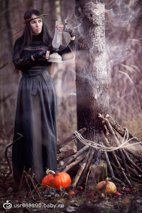 Картинки ведьмы зимой