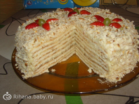 торт минутка на сковороде рецепт с фото