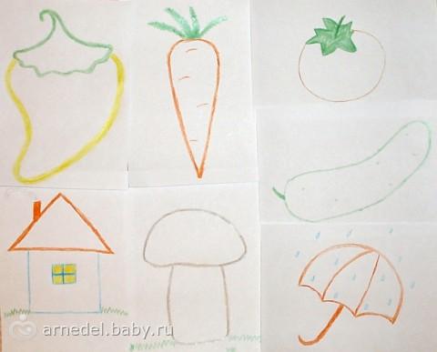 Самые первые раскраски для малыша своими руками. Идеи.
