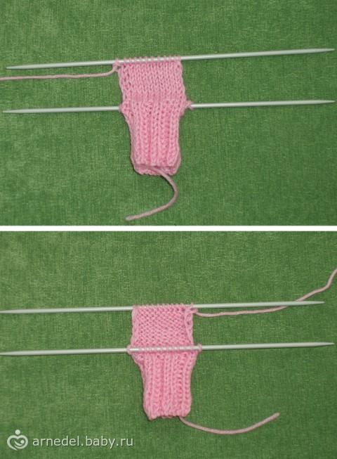 Носочки для крошек. Подробный мастер-класс вязания на спицах, много фото.
