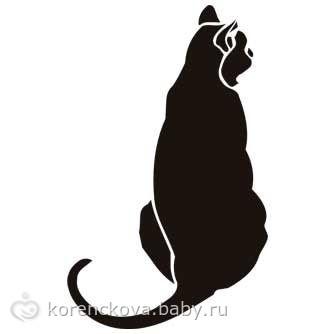 Трафареты кошек на холодильник своими руками 51