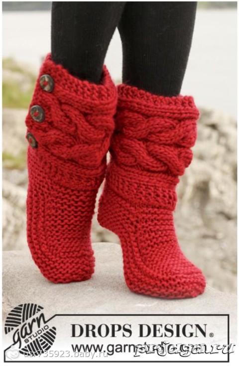 Носки тапочки  Вязание крючком схемы вязания