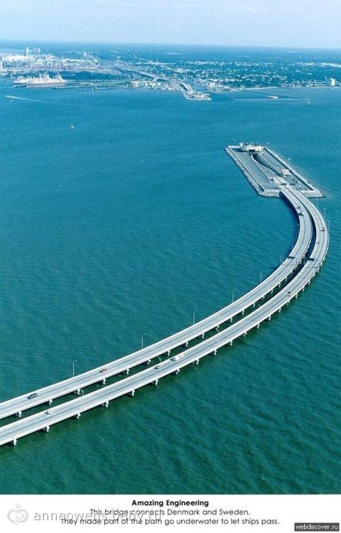 Мост между Данией и Швецией фото
