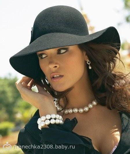 картинки женщины в шляпе