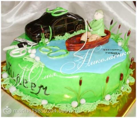 Торт машина мужу на 30 лет картинки