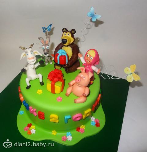 фото тортиков маша и медведь
