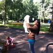 в парке с детьми