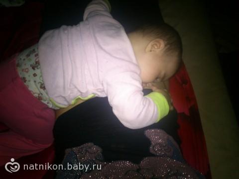 Доченька так спала почти всю ночь!