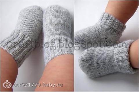вяжем носочки по размеру...