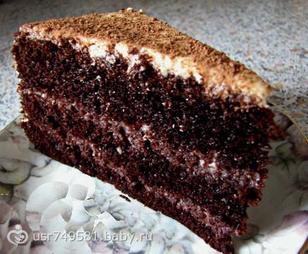 Торт на кипятке рецепт