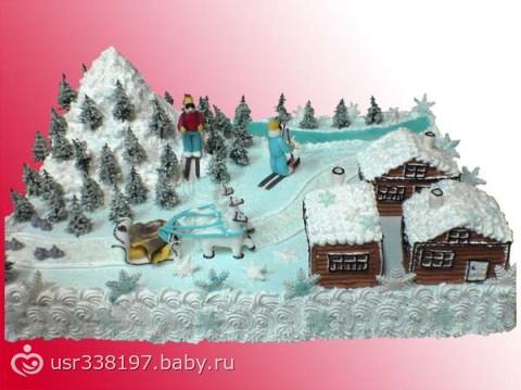 торты на тему зима картинки