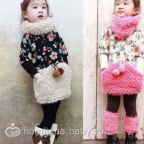 Теплое платье для девочек фото