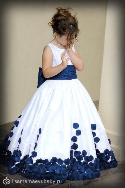 Детское платье пышной юбкой выкройка