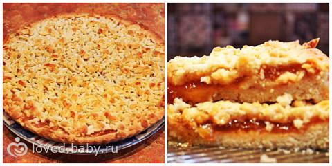 пирог с персиковым вареньем рецепт с фото