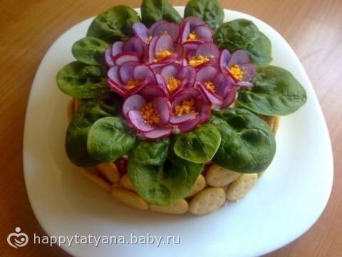 Фото рецепты оригенально оформленных салатов
