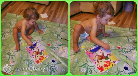 Первые шаги в творчестве! Малышу очень нравится.