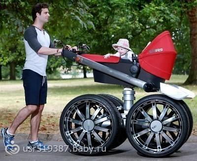 skoda выпустила детскую коляску-вездеход для пап.