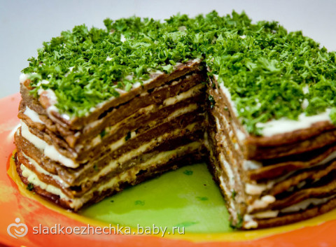 Рецепты с фото печёночного торта