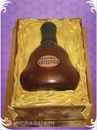 Торт бутылка коньяка картинки