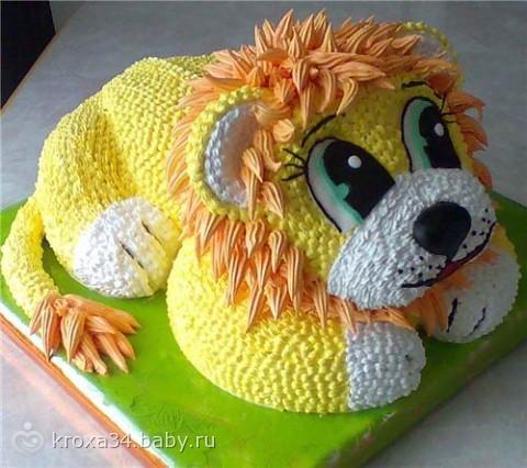Торт львёнок фото