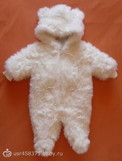 Меховой комбинезон для новорожденного