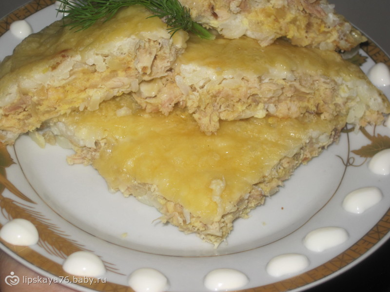 Рисово-куриная запеканка