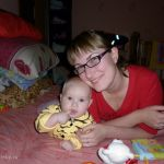 мама и лапочка-дочка